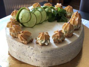 Tort miętowo-limonkowy